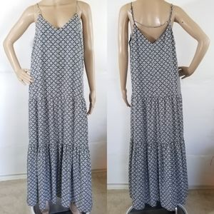 1. STATE  Black & White Tiered Maxi Dress Size L